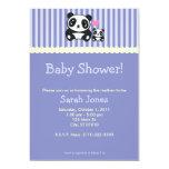 Panda Baby Shower - Purple Custom Announcements