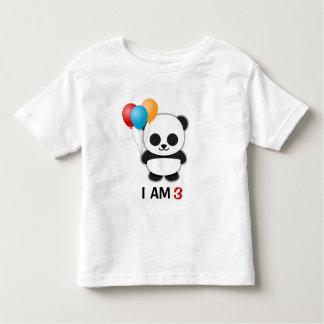 Panda Balloon Birthday Toddler T-Shirt