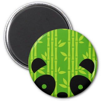 panda bamboo 6 cm round magnet