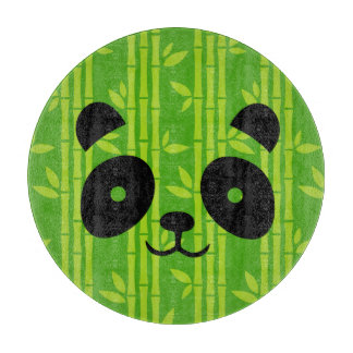 panda bamboo cutting board