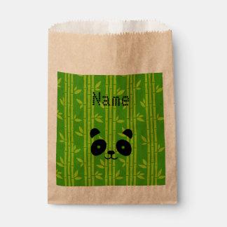 panda bamboo favour bag