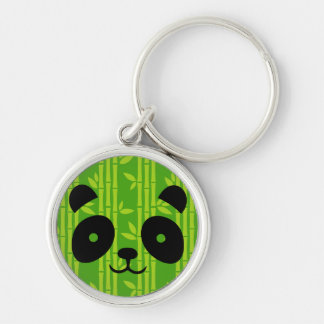 panda bamboo key ring