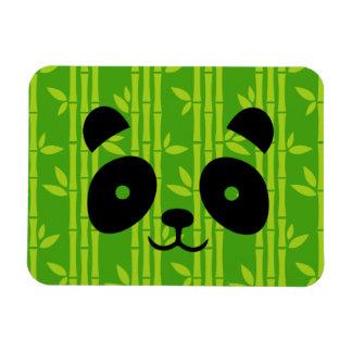 panda bamboo rectangular photo magnet