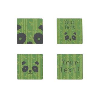 panda bamboo stone magnet