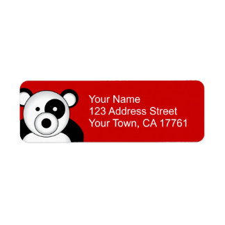 Panda Bear Address Labels