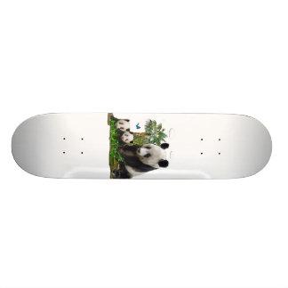 Panda bear art skate deck