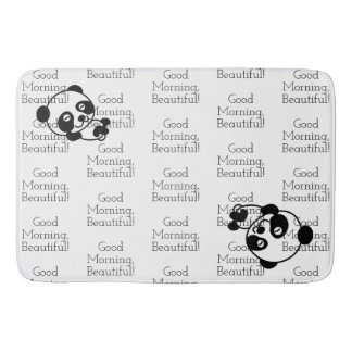 Panda bear bathroom mat