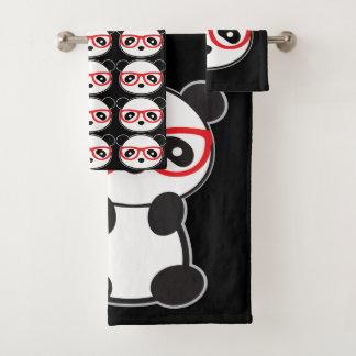 Panda Bear Bathroom Towels - Leon