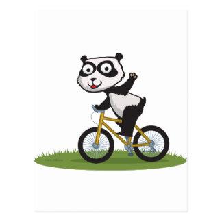 Panda Bear Biker Postcard