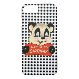 Panda Bear Birthday Humor Kitsch Retro Animal iPhone 8/7 Case