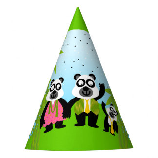 Panda bear  birthday party party hat