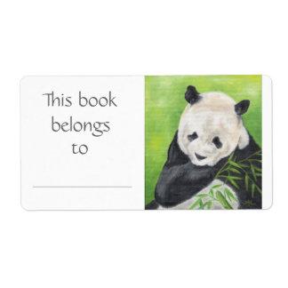 Panda Bear book label Shipping Label