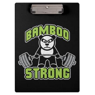 Panda Bear Cartoon - Bamboo Strong - Deadlift Clipboard