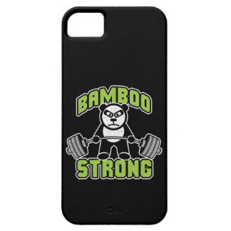 Panda Bear Cartoon - Bamboo Strong - Deadlift iPhone 5 Covers