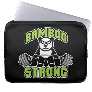 Panda Bear Cartoon - Bamboo Strong - Deadlift Laptop Sleeve