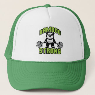 Panda Bear Cartoon - Bamboo Strong - Deadlift Trucker Hat