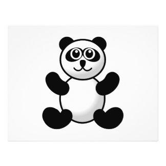 Panda bear cartoon flyer