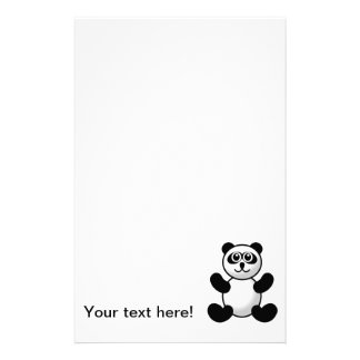Panda bear cartoon customized stationery