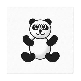 Panda bear cartoon stretched canvas print