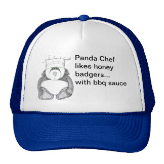 Panda Bear Chef Likes Honey Badgers Cap