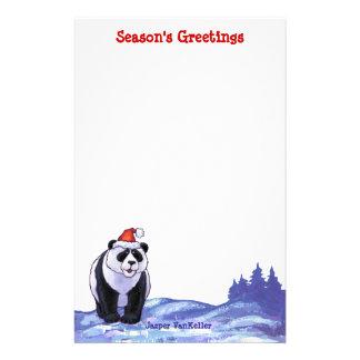 Panda Bear Christmas Stationery Design