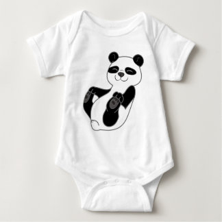 Panda Bear Cub Baby Bodysuit