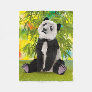 Panda Bear Cub Fleece Blanket