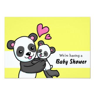"Panda Bear customisable Baby Shower Invitation 5"" X 7"" Invitation Card"