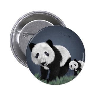 panda bear cute cuddly animal black white sweet 6 cm round badge