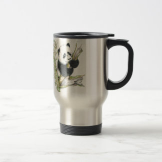 Panda Bear cute pencil drawing bamboo Travel Mug