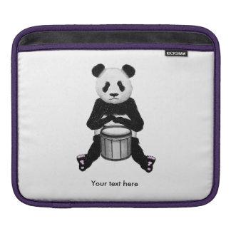 Panda Bear Drum Illustration iPad Sleeves