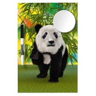 Panda Bear Dry Erase Board With Mirror