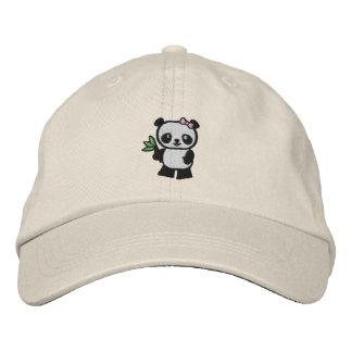 Panda Bear Embroidered Baseball Cap
