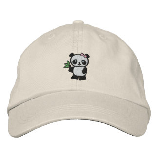 Panda Bear Embroidered Hat