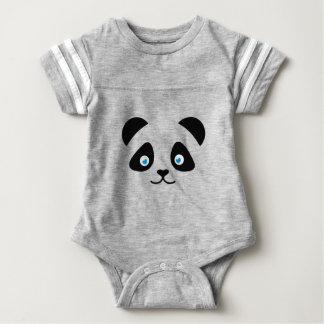 panda bear face baby bodysuit