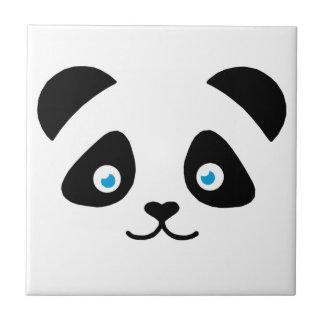 panda bear face ceramic tile