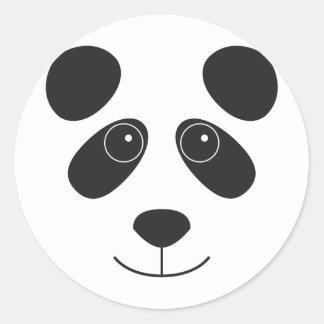 Panda Bear Face Classic Round Sticker