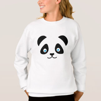 panda bear face sweatshirt
