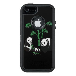 Panda Bear Family OtterBox Defender iPhone Case