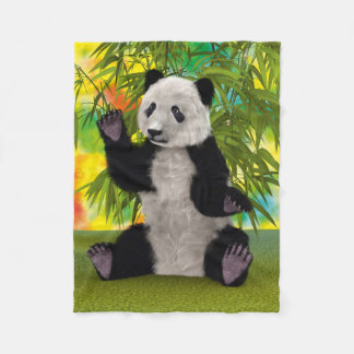 Panda Bear Fleece Blanket