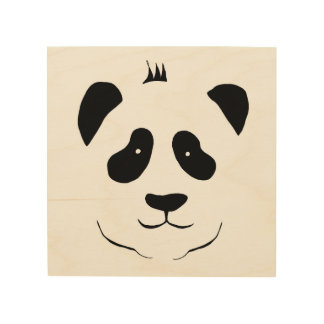 Panda bear for the children's room wood canvases