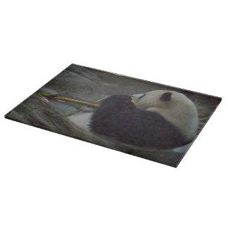 Panda Bear Glass Cutting Board
