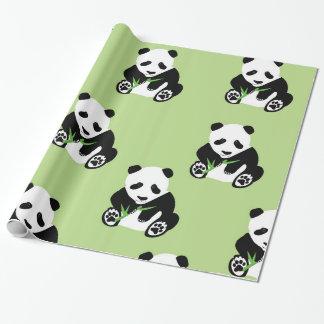 Panda Bear Glossy Wrapping Paper