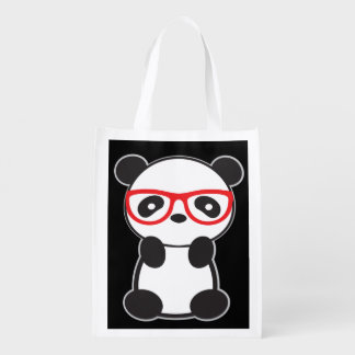 Panda Bear Grocery Tote Bag
