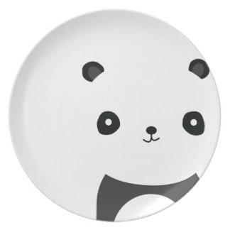 Panda Bear Hugs Plates