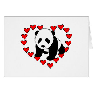 Panda Bear Love Card