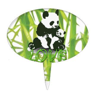 Panda Bear Love for her Baby Cake Topper