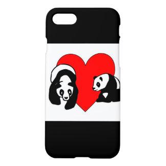 Panda Bear Love iPhone 7 Case