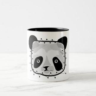 PANDA BEAR PATCHWORK COFFEE MUGS