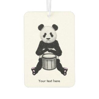 Panda Bear Playing The Drums Illustration